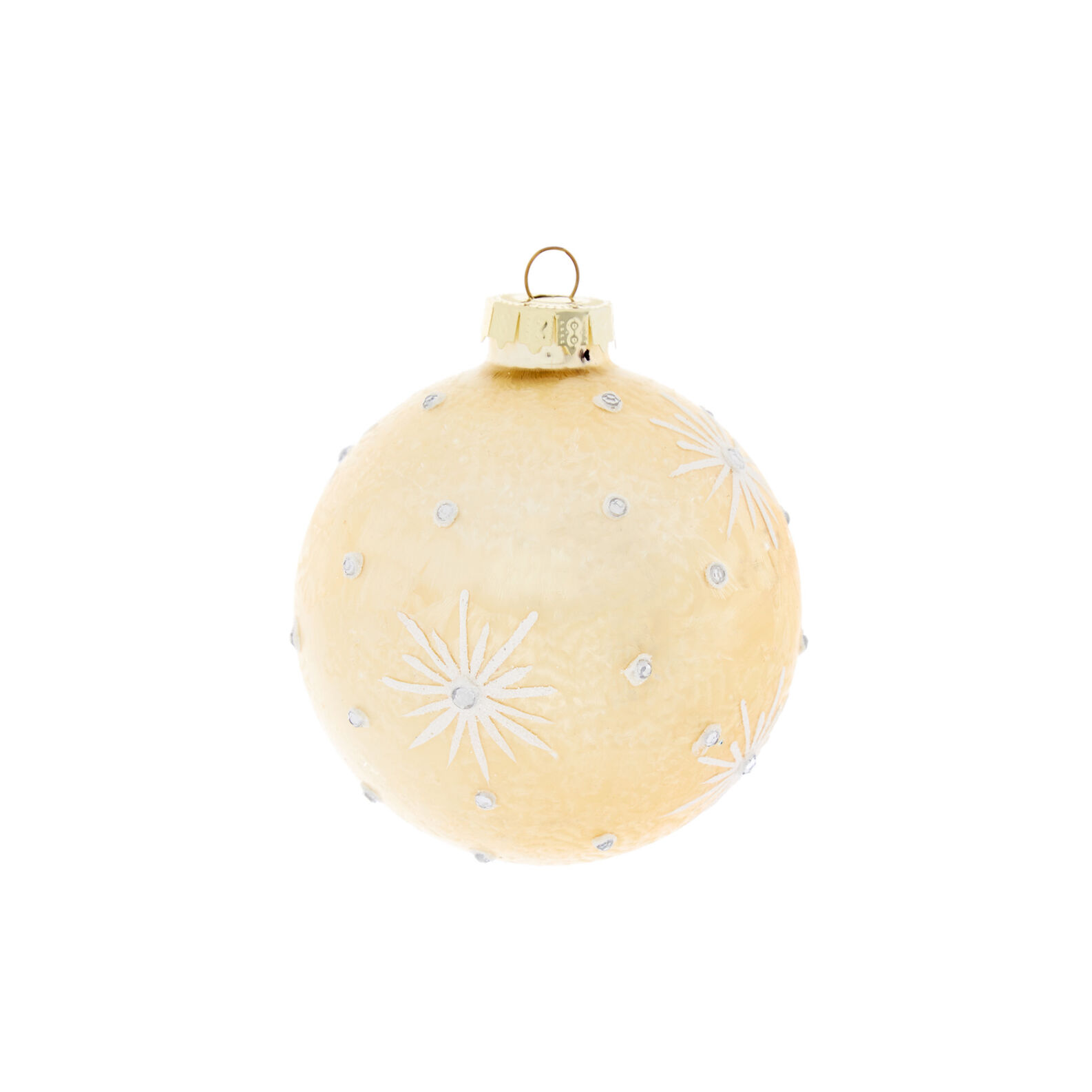 Hand-decorated glass bauble