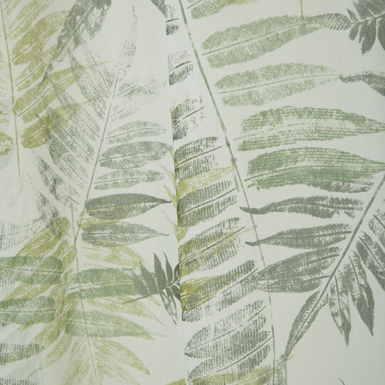 Soft-touch curtain with botanical print and concealed loops