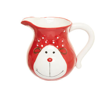 Ceramic carafe with reindeer decoration