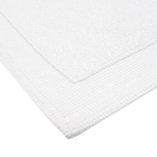Zero twist cotton terry bath mat.