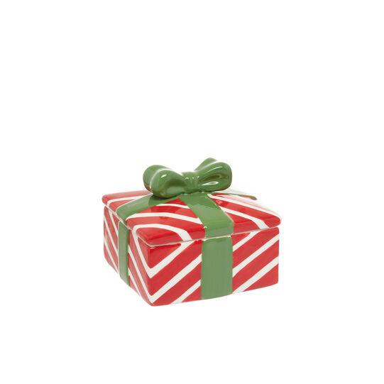 Ceramic box with bow