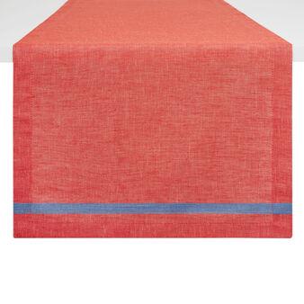 Yarn-dyed linen blend table runner
