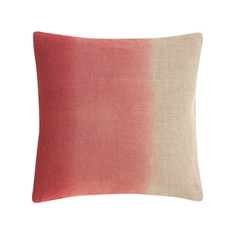 Linen cushion with tie and dye print
