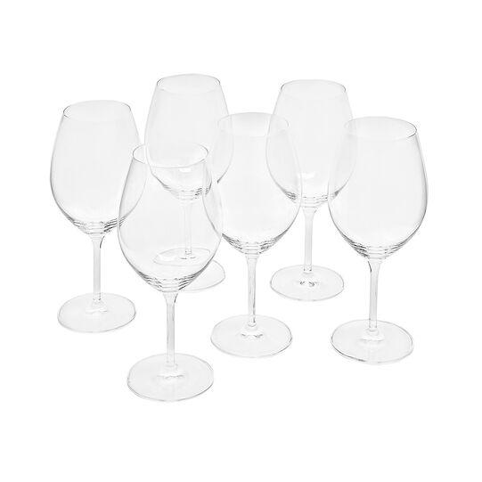 Set of 6 Cru wine goblets