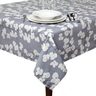 Floral print cotton tablecloth