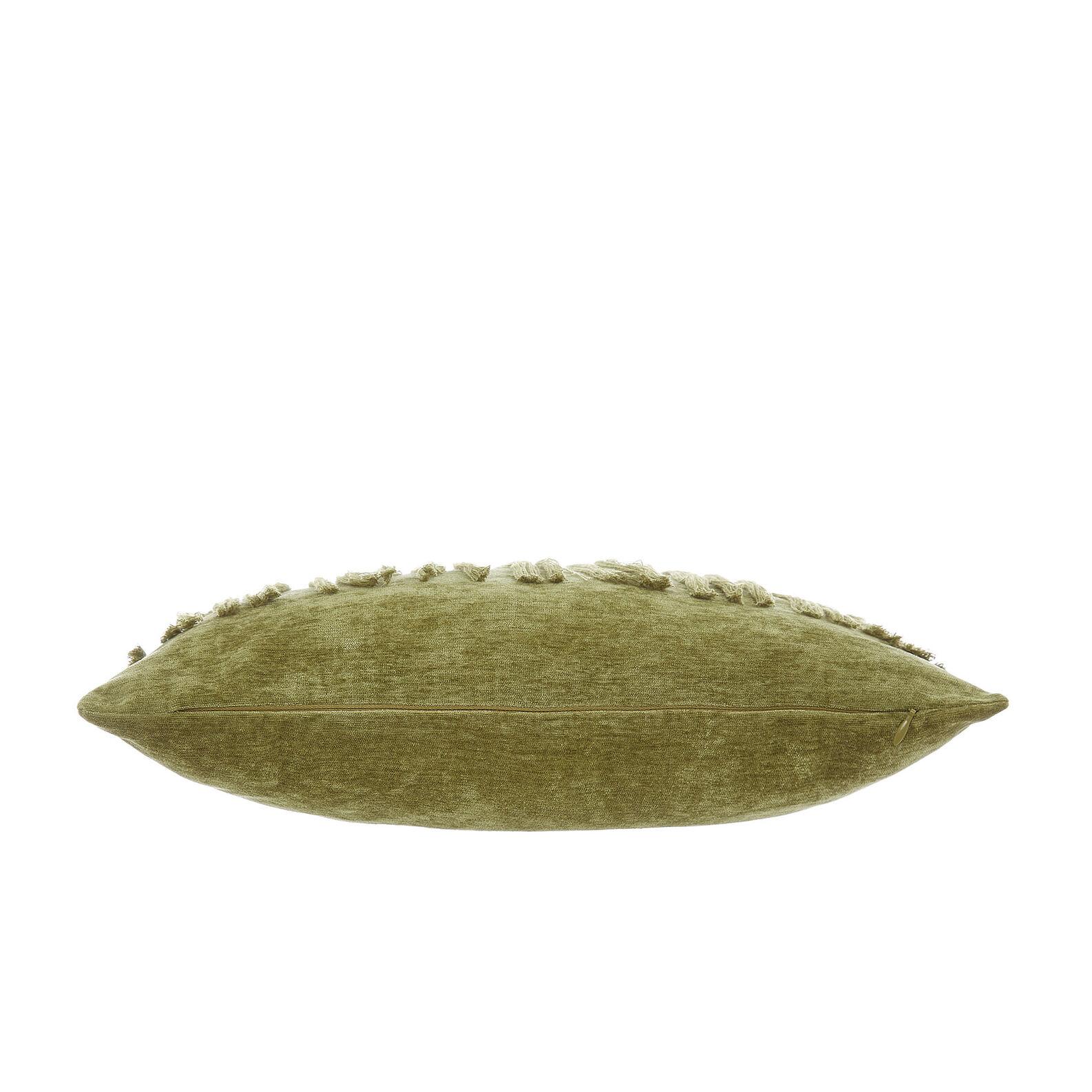 Velvet cushion with fringe 45x45cm