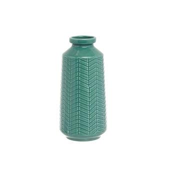 Vaso artigianale in ceramica portoghese incisa e smaltata