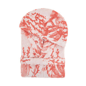 Accappatoio cotone velour stampa coralli