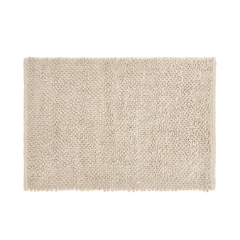 Cotton and chenille blend bath mat