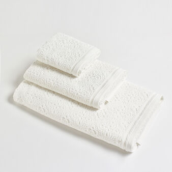 Thermae towel in 100% zero twist cotton jacquard