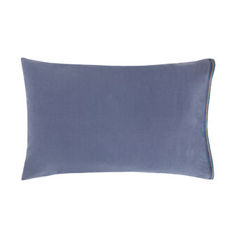 Solid colour linen blend pillowcase