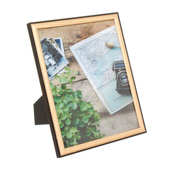Two-tone wood photo frame