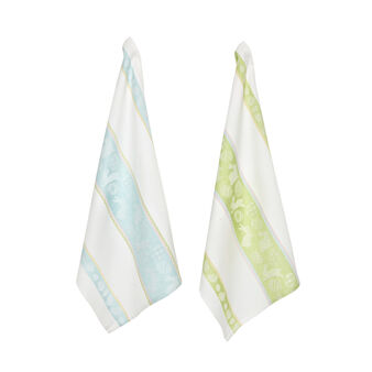 Two-pack tea towels in cotton with jacquard weave and Easter motif