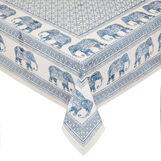 Tovaglia puro cotone stampa piazzata elefanti