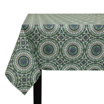 100% cotton tablecloth with circle print