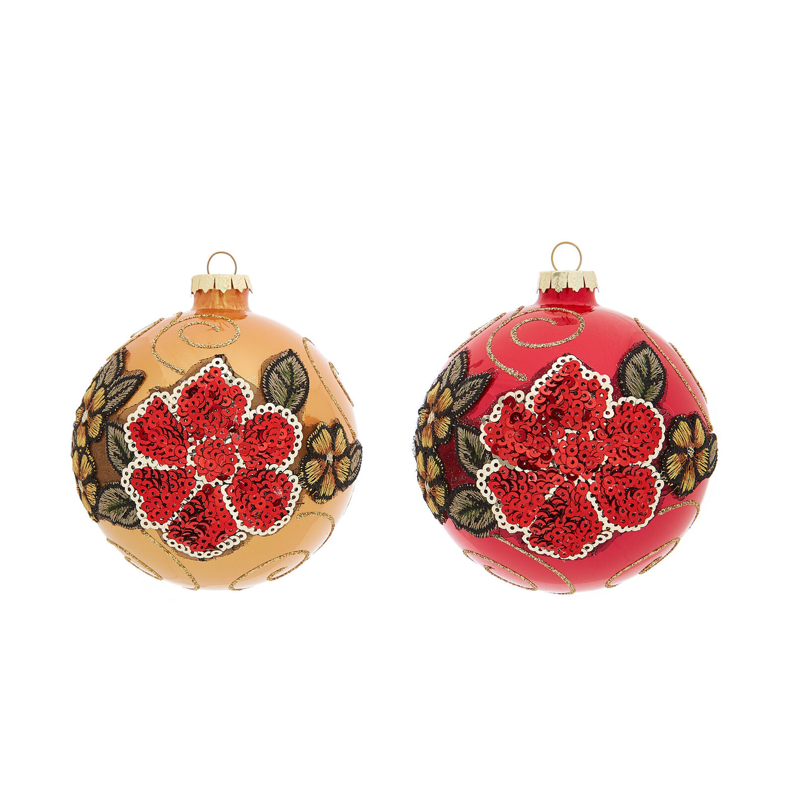 Hand-decorated flower bauble
