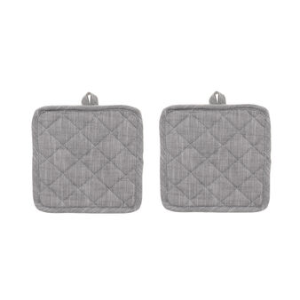 Two-pack iridescent mélange pot holders.
