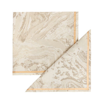 Two-pack napkins in 100% cotton with marble print