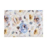 Cotton velour towel with floral print