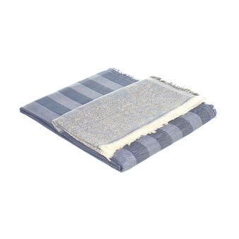 Striped 100% cotton jacquard throw
