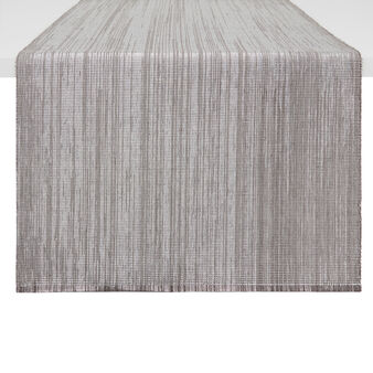 Woven cotton and lurex table runner