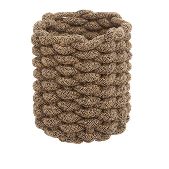Basket in woven cord