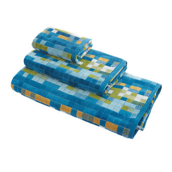 100% cotton velour check towel