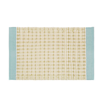 Cotton blend kitchen mat with design