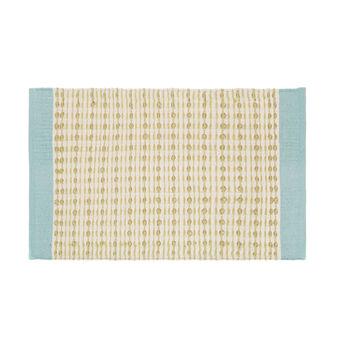 Cotton blend kitchen mat with design