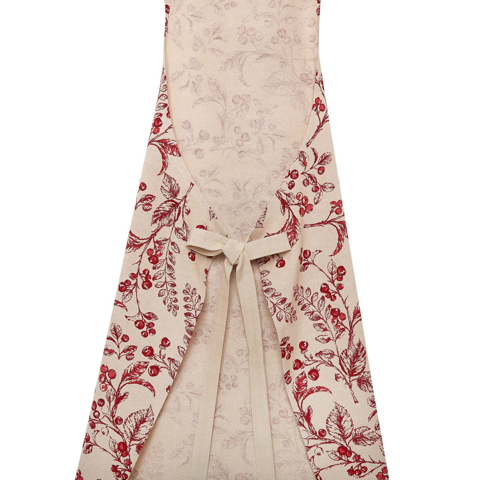 Kitchen apron in 100% cotton with round peppers print