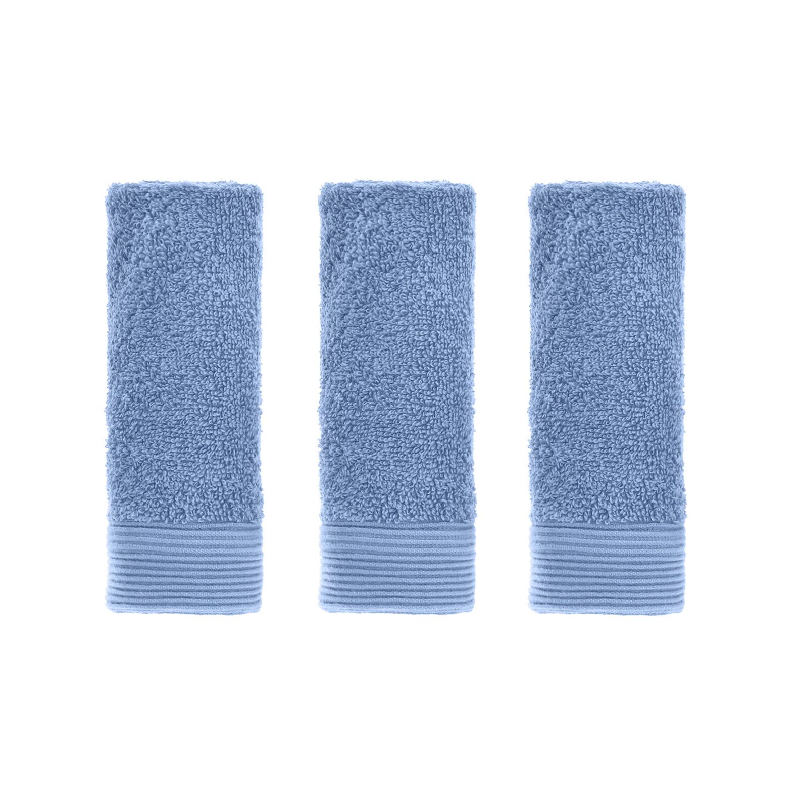 Set 3 lavette puro cotone con bordo rigato