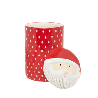 Ceramic jar with Father Christmas
