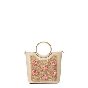 Koan handbag with metal handles