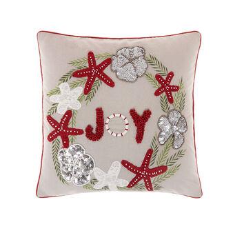 Cushion with Joy embroidery 45x45cm