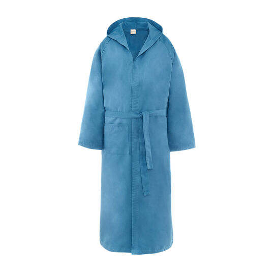 Solid colour microfibre bathrobe