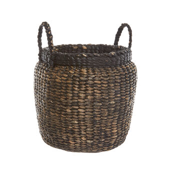 Large hand-woven basket