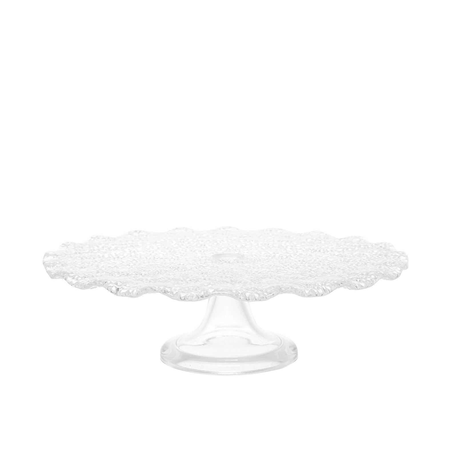 Lvv scalloped glass cake stand