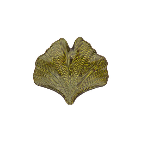 Leaf-shaped glass side plate