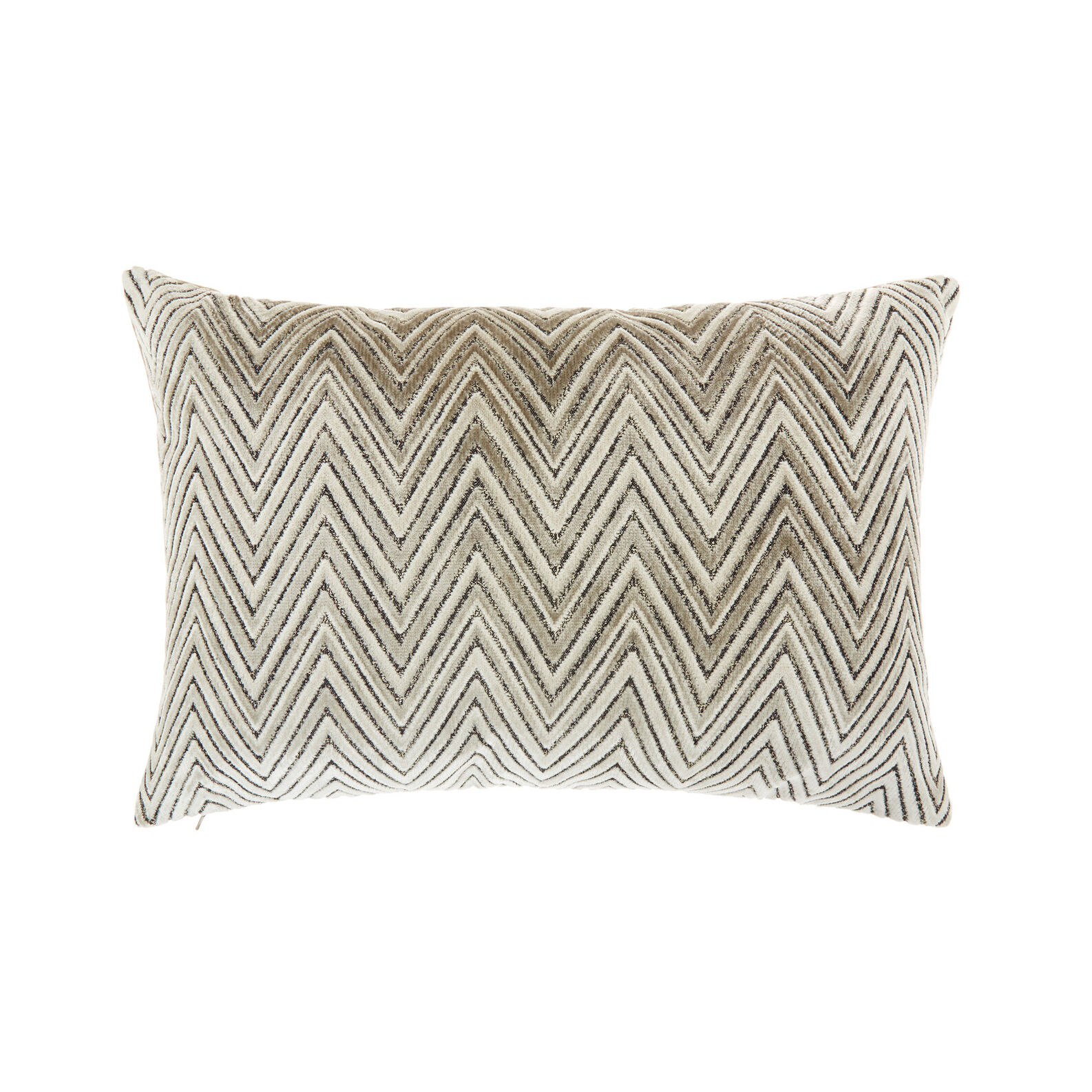 Zigzag corduroy cushion (35x55cm)