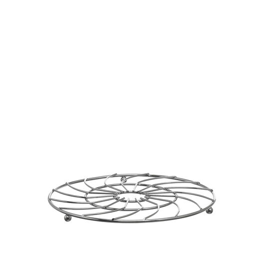 Chrome-plated steel wire trivet