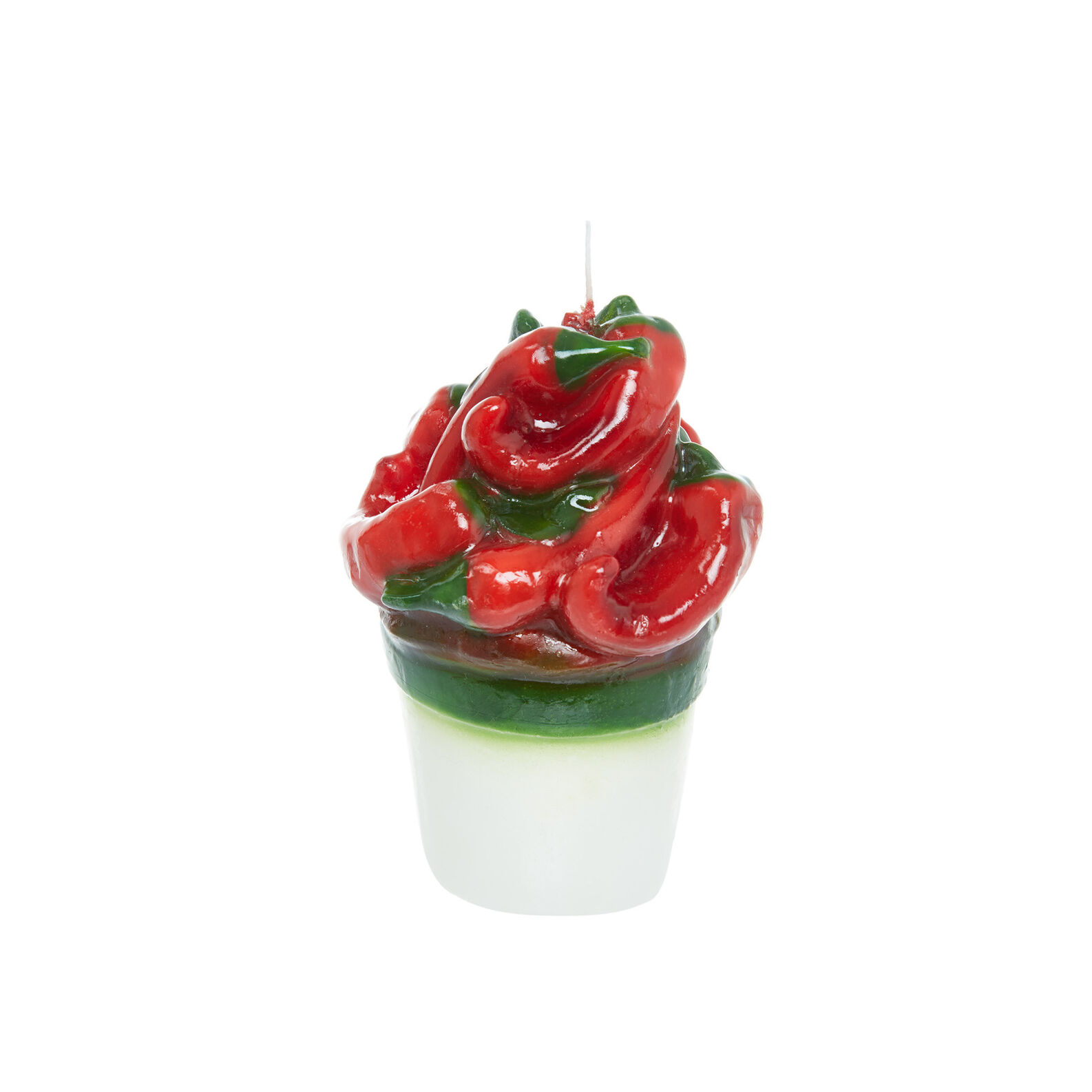 Handmade chilli pepper candle