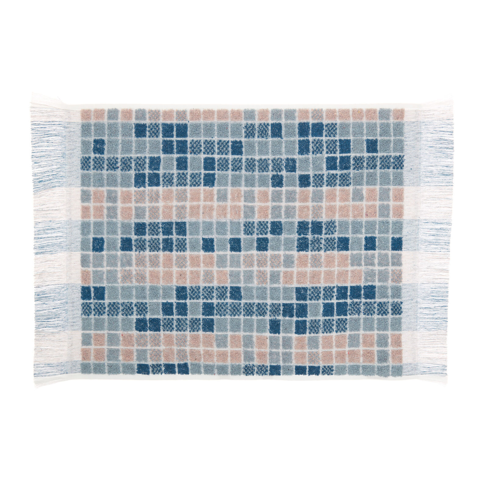 100% cotton towel with mosaic design