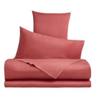 Solid colour cotton satin duvet cover set