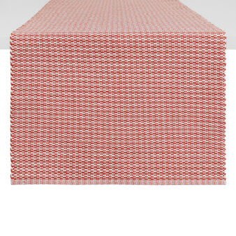 Table runner in 100% cotton with geometric design