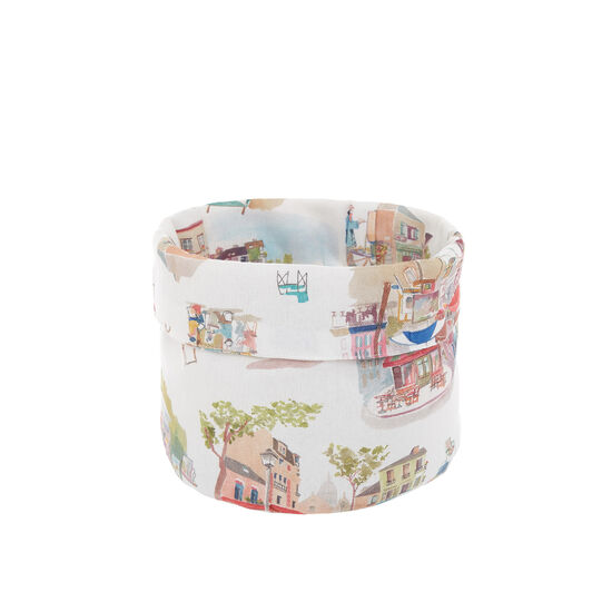 100% cotton basket with Montmartre print
