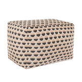 Footstool with jacquard ball design