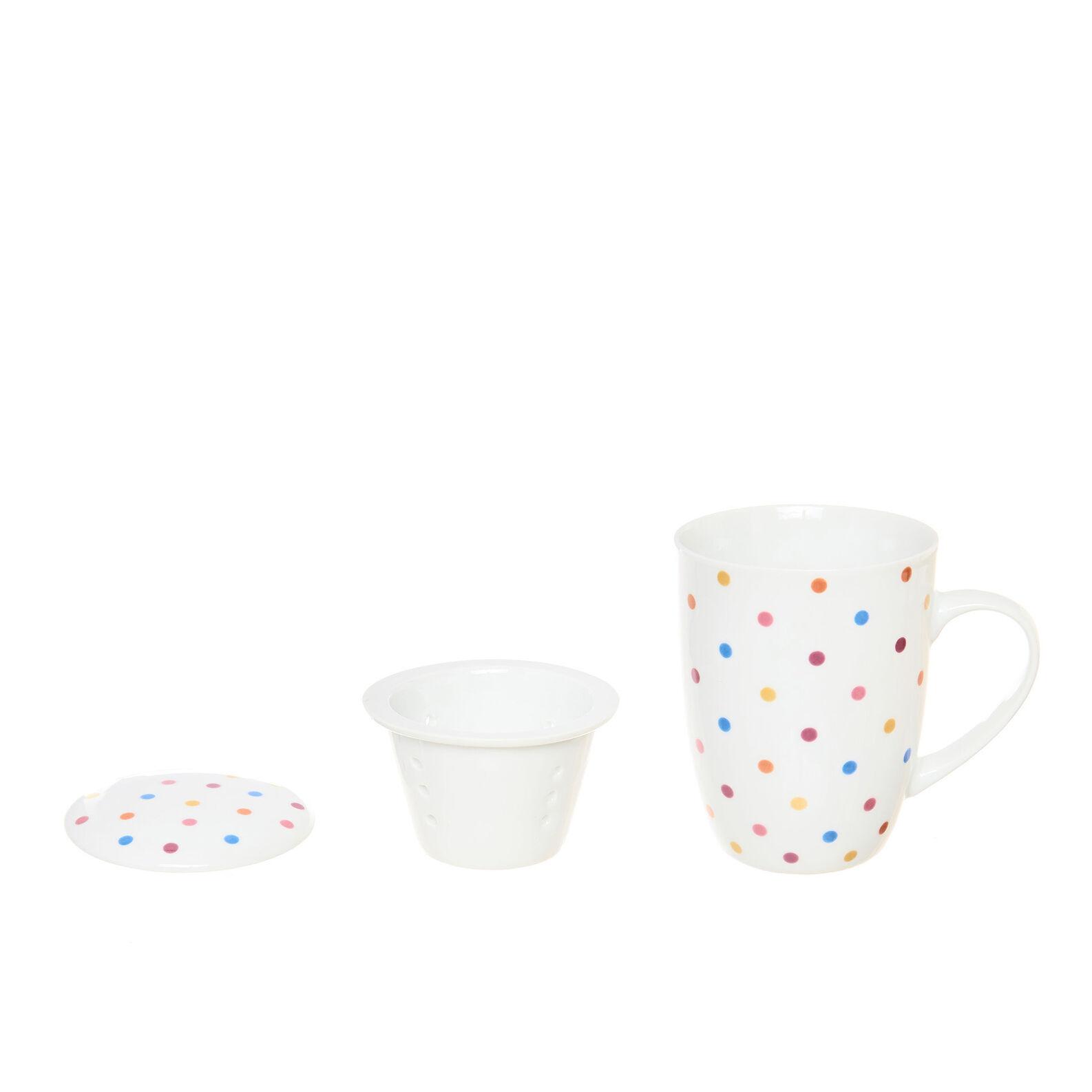 Polka dot porcelain infuser cup