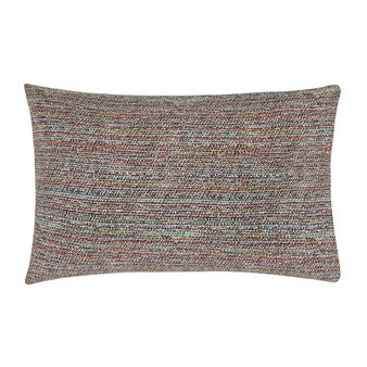 Cotton percale pillowcase with woven pattern