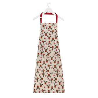 Apron in 100% cotton with Rudolph print