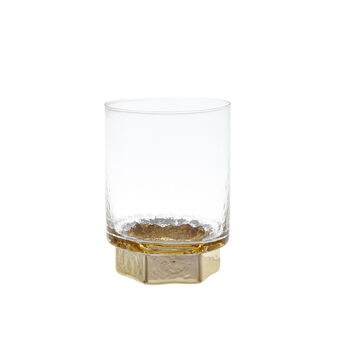 Glass tumbler with gold base